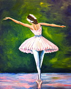 Ballet Dancers Painting Posters - Ballerina Poster by Tiffany Albright