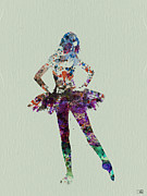 Vogue Fashion Art Posters - Ballerina watercolor Poster by Irina  March
