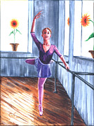 Gail Finn - Ballerina with Sunflowers
