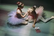 Ballet Dancers Posters - Ballerinas Get Ready For A Performance Poster by Richard Nowitz