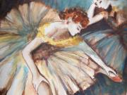 Figures Painting Originals - Ballerinas by Nona Rostagno