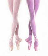 Dance Shoes Painting Posters - Ballerinas Poster by Stefan Kuhn
