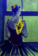 Ballet Dancers Painting Prints - Ballerine en Hiver Print by Rusty Woodward Gladdish
