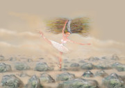 Ballet Dancers Paintings - Ballet  by Ali Divandari