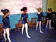 Ballerinas Mixed Media Posters - Ballet Class Poster by Sarah Loft
