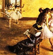Ballet Class  The Dance Hall Print by Pg Reproductions