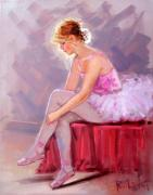 Italian Wine Paintings - Ballet dancer - Ballerina by Rodriguez
