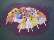 Ballet Dancers Metal Prints - Ballet dancers Metal Print by Rae  Smith PSC