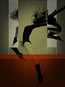 Dancing Digital Art Posters - Ballet Dancing Poster by Irina  March
