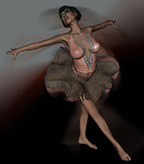 Steampunk Digital Art Posters - Ballet in Motion Poster by  Anjie Conway