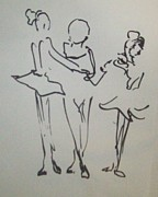 Ballet Dancers Drawings - Ballet In The Park by James  Christiansen