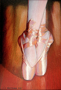 Pastel Prints Posters - Ballet Poster by Juan Jose Espinoza