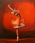 Featured Paintings - Ballet Lady by Patrick Hunt