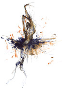 Tutu Mixed Media Posters - Ballet Obsession Or Raymonda Ballet Poster by Lousine Hogtanian