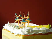 Miniatures Art - Ballet on Cake by Renee Trenholm