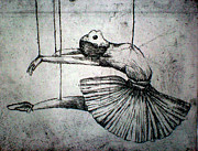 Surrealism Reliefs Metal Prints - Ballet Metal Print by Rocio Chacon