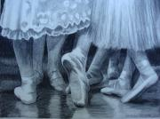 Ballerinas Pastels Metal Prints - Ballet Shoes Metal Print by Christy Vitale