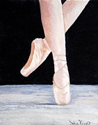 Ballet Shoes Print by Julie Kraft