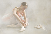 Shoe Digital Art Posters - Ballet Slippers D003986-b Poster by Daniel Dempster