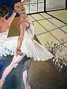 Ballet Dancers Paintings - Ballet studio by Rebecca Williams