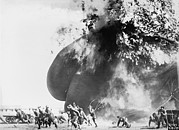 1910s Metal Prints - Balloon Accident, The Explosion Of An Metal Print by Everett