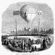 Fanciful Metal Prints - Balloon Ascent, 1784 Metal Print by Granger
