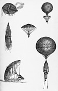 Chelsea Prints - Balloon Ascent Print by Science, Industry & Business Librarynew York Public Library