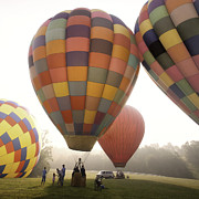Foggy Morning Posters - Balloon Day is a Happy Day Poster by Rob Travis