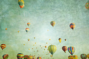 Celebration Art Print Framed Prints - Balloon Fantasy Framed Print by Andrea Hazel Ihlefeld
