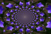 Balloon Flower Art - Balloon Flower Kaleidoscope by Teresa Mucha