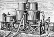 Man Machine Prints - Balloon Gas Generation, 19th Century Print by