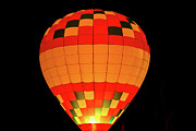 Hot Air Balloon Pyrography Prints - Balloon Glow 1 Print by Lone  Dakota Photography