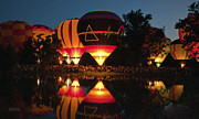 Southern Illinois Photos - Balloon Glow by Janine Pieszchalski