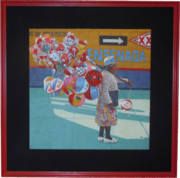 Balloons Mixed Media Originals - Balloon Lady by Rich Richardson