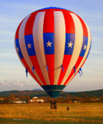 Hot Air Balloon Photos - Balloon Landing by Deborah Benoit