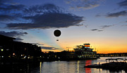 Florida House Framed Prints - Balloon over Disney Framed Print by David Lee Thompson