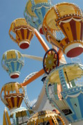 Amusements Posters - Balloon Race Ferris Wheel Poster by Joyce StJames