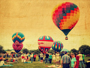 4th July Prints - Balloon Rally Print by Kathy Jennings