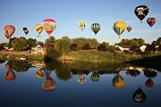 Prosser Balloon Rally Prints - Balloon Rally Reflection Print by Carol Groenen
