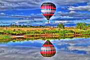 Hot Air Balloon Prints - Balloon Reflections Print by Scott Mahon