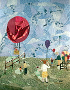 Children Tapestries - Textiles - Balloon rides by Charlene White