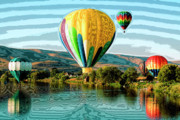 Hot Air Balloons Digital Art - Balloon Rides by David Patterson