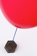 Kilogram Prints - Balloon tied to weight Print by Sami Sarkis