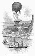 Goodrich Prints - Balloon Travels, 1855 Print by Granger