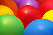Party Posters - Balloons Background Poster by Carlos Caetano