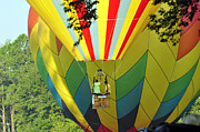 Ascension Parish Prints - Balloons Descending Print by Helen Haw