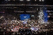 2008 Election Framed Prints - Balloons Drop At The Convention Center Framed Print by Everett