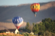 Prosser Balloon Rally Prints - Balloons Hills and House Reflection Print by Carol Groenen