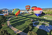 Riverpark Prints - Balloons in Coolidge Park Print by Tom and Pat Cory