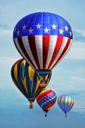 Balloons In Flight Print by Charlie Prenzi